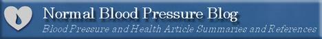 normal blood pressure blog